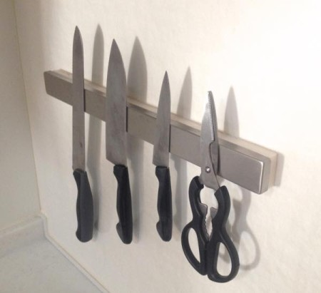 ikea magnetic knife rack without screws