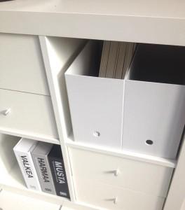 IKEAexpeditに無印ファイルボックス