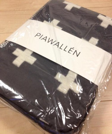 pia wallen cross blanket gray