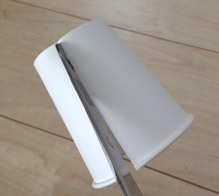 紙コップ漏斗代用