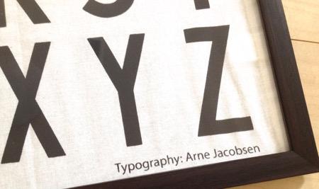 Typography : Arne Jacobsen