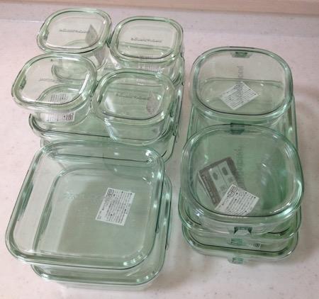 iwaki耐熱ガラス容器セット