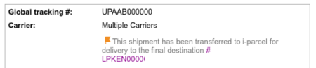 ebay i-parcel トラッキングナンバー