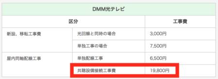 DMM光テレビ共調工事