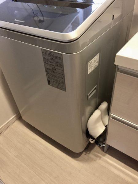 縦型洗濯機にマグネット収納