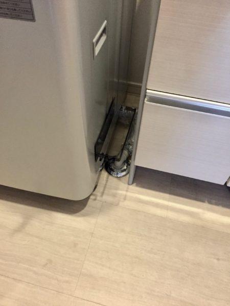 洗濯機にバスブーツホルダー