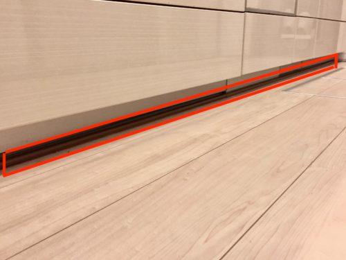 ウォータースタンド床の配線