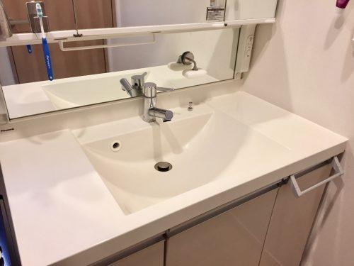 洗面台何も置かない